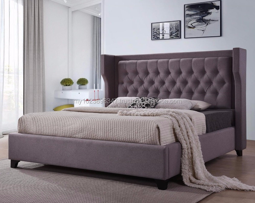 Luxury Tufted Bed With Ear Design