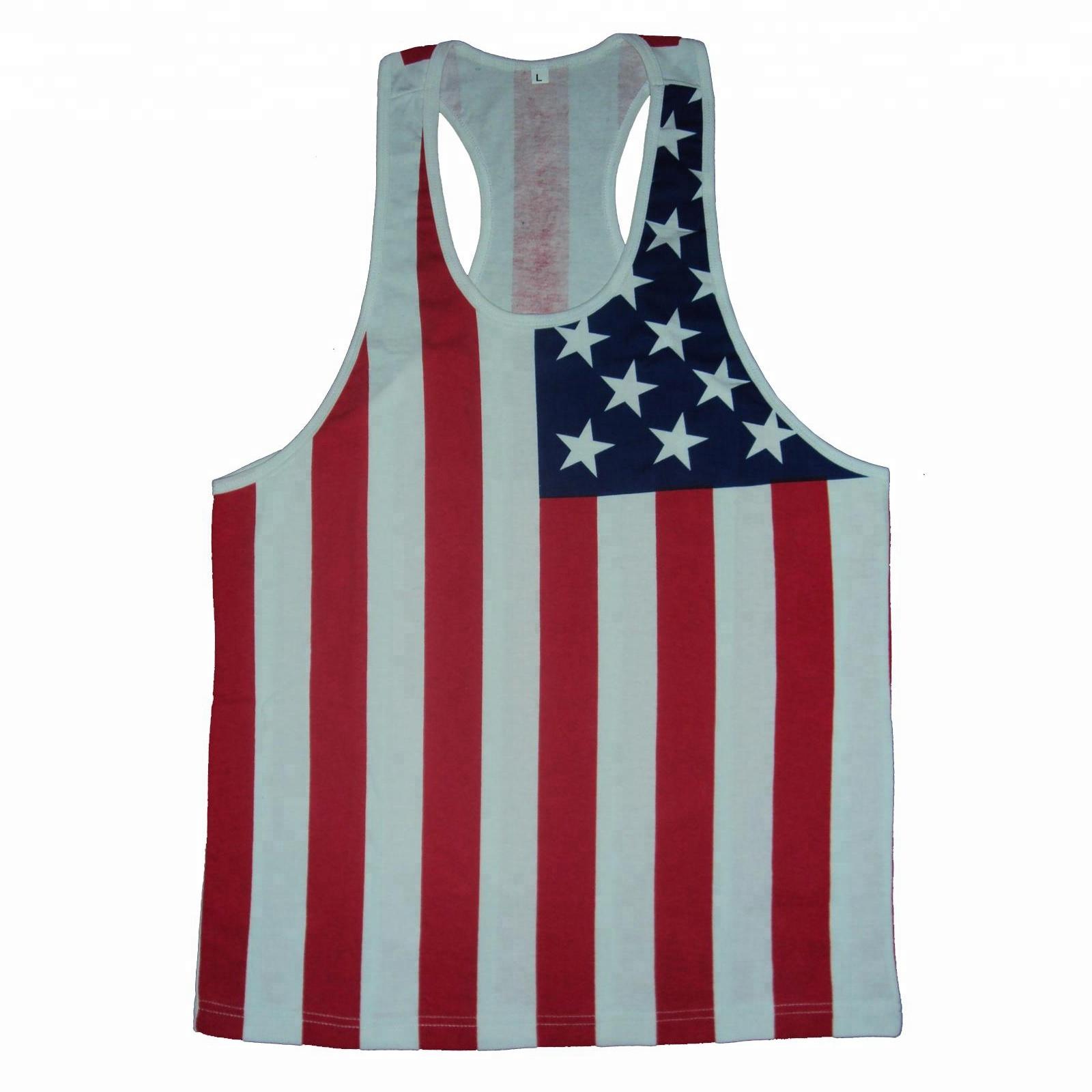 Singlet On Usa Stringer Buy Product Top Men stringer Gym American Vest Singlet mens Singlets Flag Tank EHDe9W2IYb