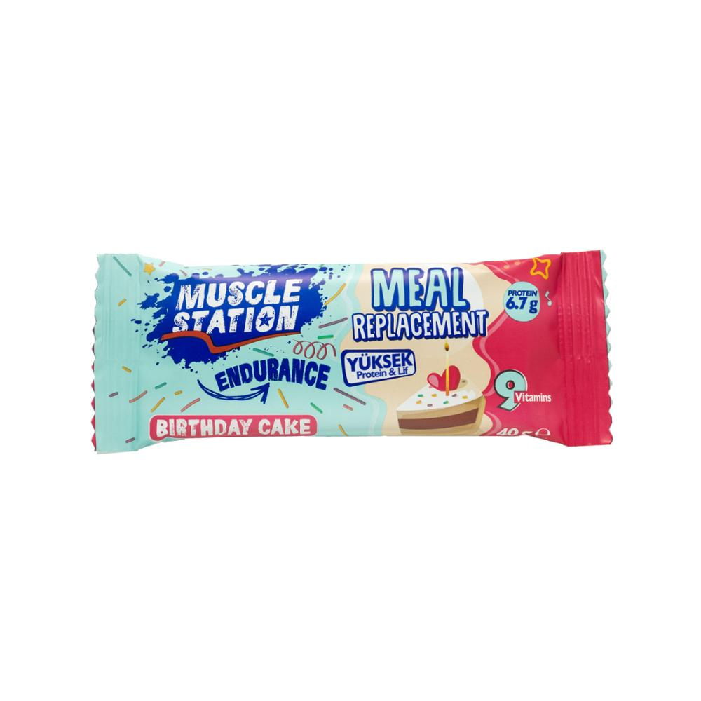 Musclestation Meal Replacement Birthday Cake Protein Bar