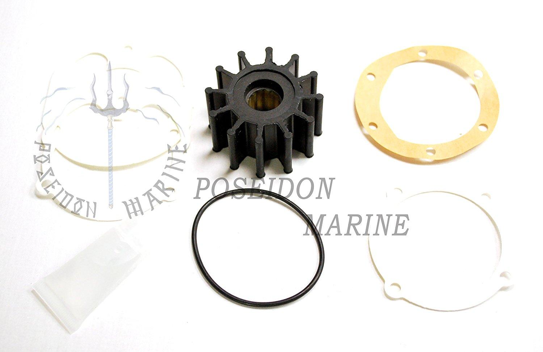 21213660 Water Pump Impeller Kit Fit for Volvo Penta V6 V8 3.0 4.3 5.0 5.7 8.1 Engines,Replaces for Johnson 09-812B F6B-9 and Jabsco 1210-0001 Sierra 21213660 21951346 18-3081 18-3277 3862281 OMC