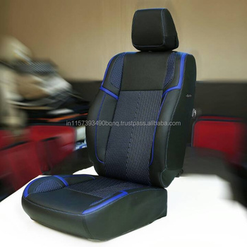 PVC Car Seat Cover BLUE BLACK PU