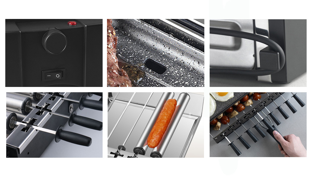 Indoor Smokeless Barbecue Non Stick Bbq Electric Grill