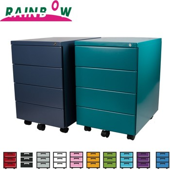 Office Furniture lockable filing cabinet rainbow