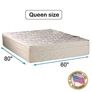 """Beverly Hills Firm Foam Encased Eurotop (Pillow Top) Mattress Only (Queen 60""""x80""""x13"""") Sleep System with Enhance Support- Fully Assembled, Knit Cover, Orthopedic by Dream Solutions USA"""