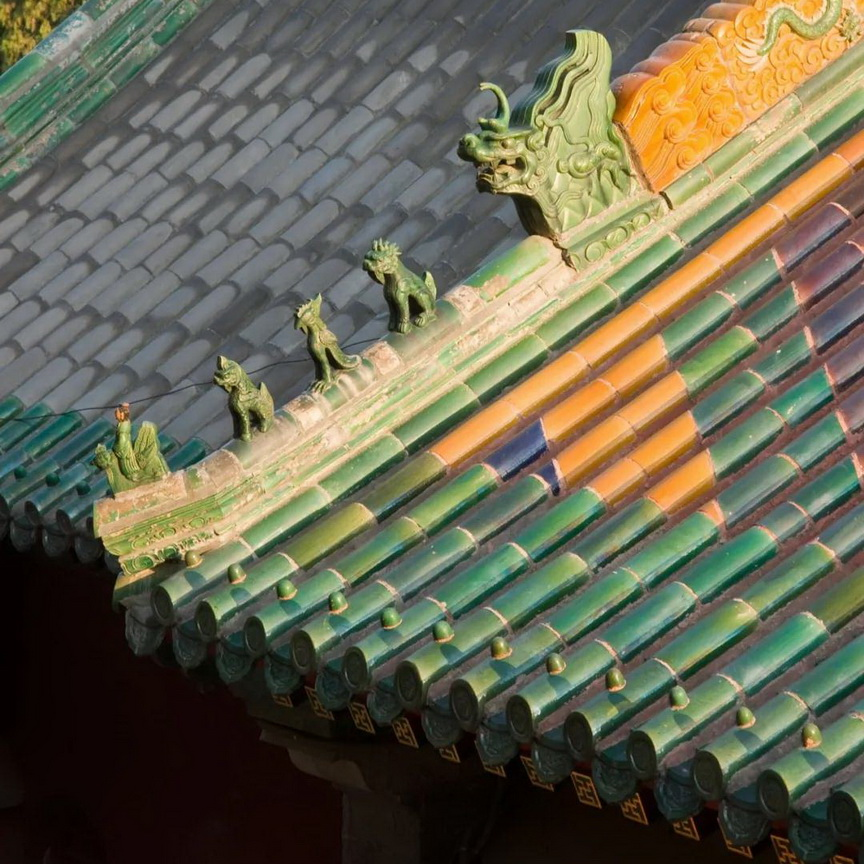 Traditional Chinese Roof Tiles Green Glazed Ceramic Roof Tile For