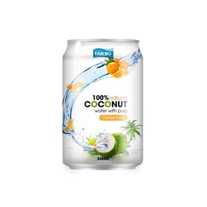 Tan Do Pure Coconut Water with Pulp adding Orange juice flvavor