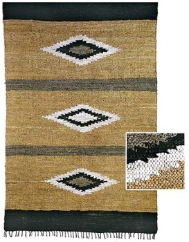 100 Natural Leather Durry Rug