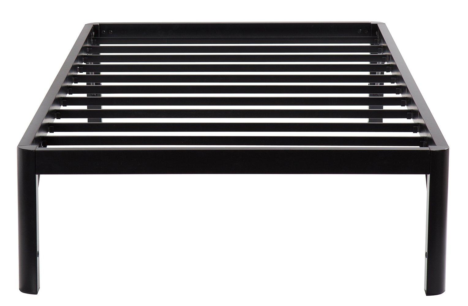 Olee Sleep 14Inch Dura Metal Steel Slate Bed Frame - S3500 Twin 14BF10T