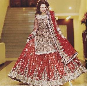 8bfb4ff7f75 Pakistan Red Bridal Dress