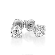 White/Yellow Gold Natural Diamond Stud Earrings Total 1.00-1.10 Carat