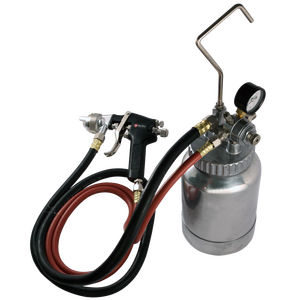 PU-9780 Pressure Feed Pot Paint Spray Gun With Gauge And Hose