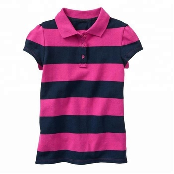 Striped Polo Shirt For Girl Kids - Buy Polo T Shirts For Girls f4efaa380