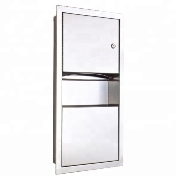 Stainless Steel Recessed Manual Wall Mounted Paper Towel Dispenser