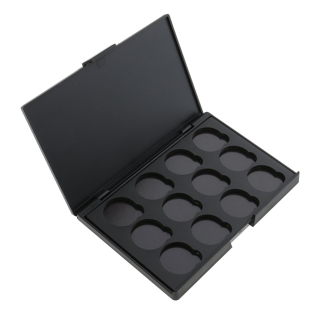 Dovewill Black Empty Magnetic Palette Container Box For Eyeshadow Blush Powder Makeup