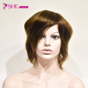 Brazilian Human Hair Men Toupee with  Lace PU Around Wigs