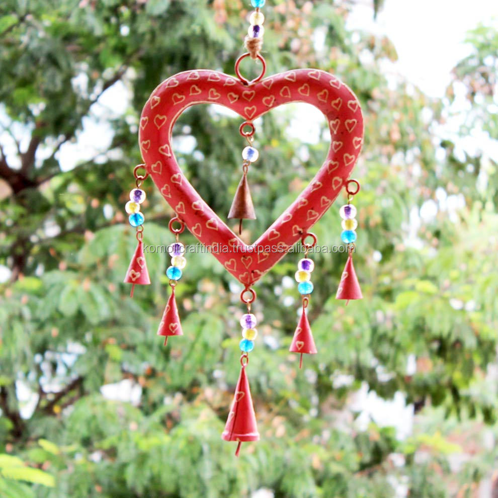 Iron Metal Heart Shape Wind Chimes Wholesale For Home Garden Buy