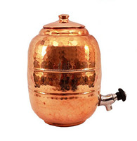 Hammered Coppers 10 Ltr Water Pot with Tap, Storage Water Tank capacity