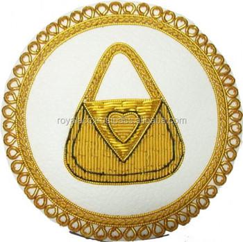 Masonic Regalia Crest/hand Embroidery Badge/bullion Wire Uk Blazer Emblem -  Buy Blazer Pocket Badge,Military Bullion Badges,Navy Blazer Badges Product