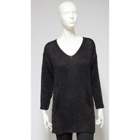 V-neck women sweater straight 3/4 sleeve - Made in Italy clothes