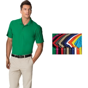 9eababae Port Authority Dry Zone Grid Polo Shirt - 100% polyester, wicks moisture  and controls