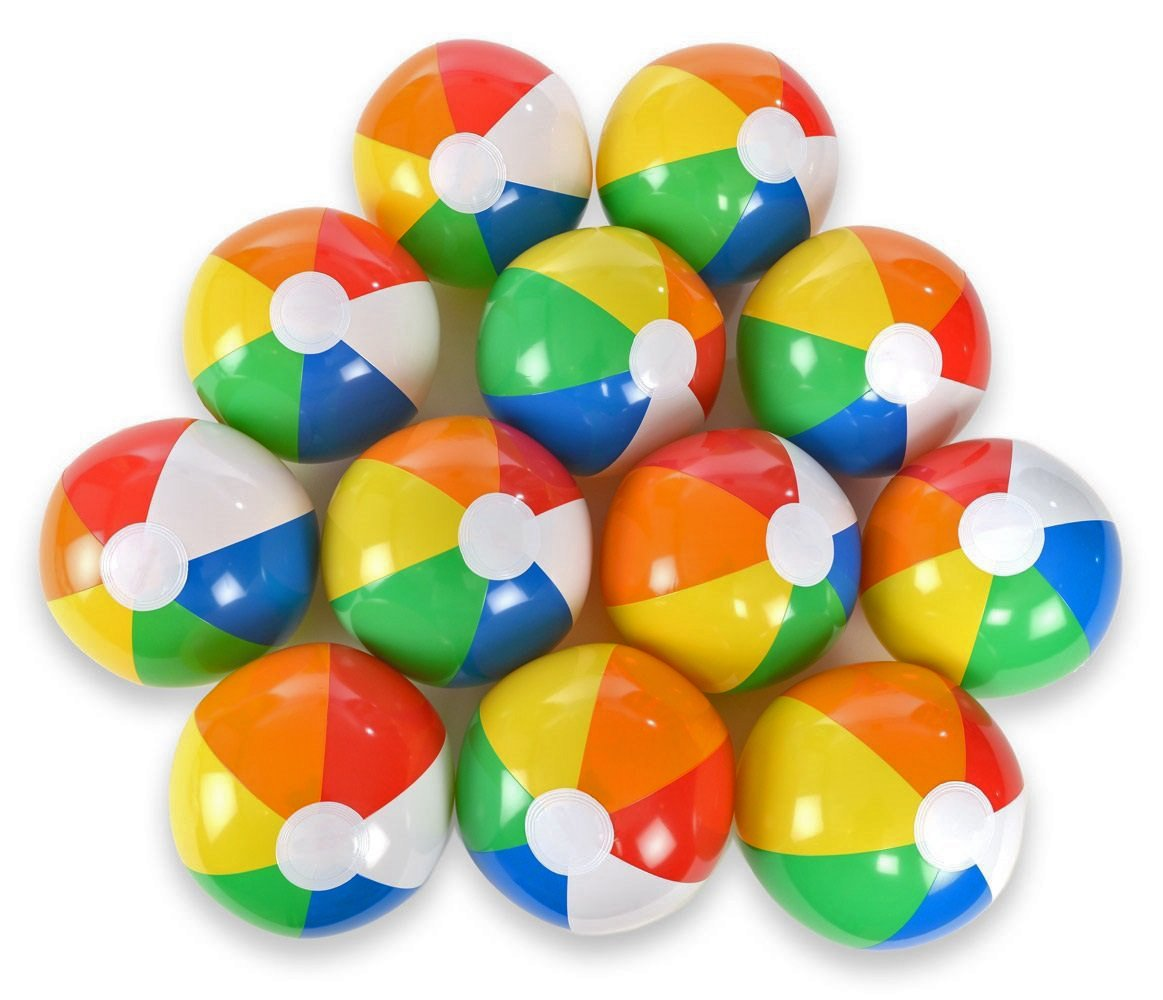 Acmer 12PCS Beach ball,Beach toy ball,Paddling ball,Water ball for children,Inflatable Beach Ball,Beach Pool Party Toys,Small size, easy to carry.