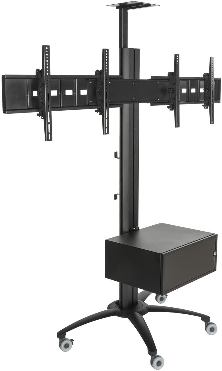 Buy Displays2go Lpgp36wb2c Heavy Duty Tv Stand For Dual Flat Screens