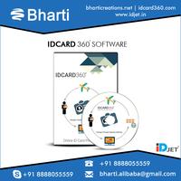 User Friendly SLR Connectivity IDjet Smart ID Card Design Software