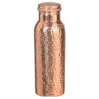 FDA Approved Hammered 100% Pure Copper Water Bottle, Ayurvedic Water Bottle