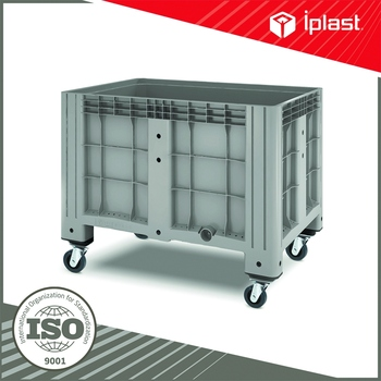 FCA price iBox plastic storage box on wheels plastic container