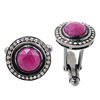 925 Sterling Silver Pave Diamond Ruby Cuff Link Gemstone Finding Jewelry Accessories
