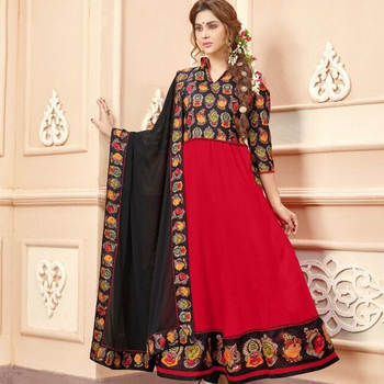 Jimmi Ladies Indian and Pakistani Style Anarkali Salwar Kameez Suit