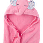 organic bamboo elephant hooded kids baby apron bath towel hooded baby towel with trim