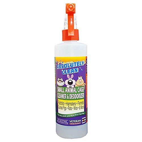 Amazing Small Animal Cage Cleaner - Just Spray/Wipe - Easily Removes Messes & Odors from Hamsters, Mice, Rats, Guinea Pigs, Ferrets, Rabbits, Chinchillas & More - Veterinarian Approved - USA Made