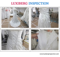 China High Quality Inspection Service for Wedding Dress / Wedding Dress Final Quality Inspection in Suzhou
