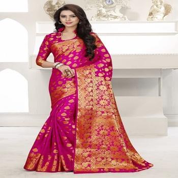 9e1a8d358b Banarasi Silk Saree - Buy Latest Saree Blouse Designs,Indian Saree ...