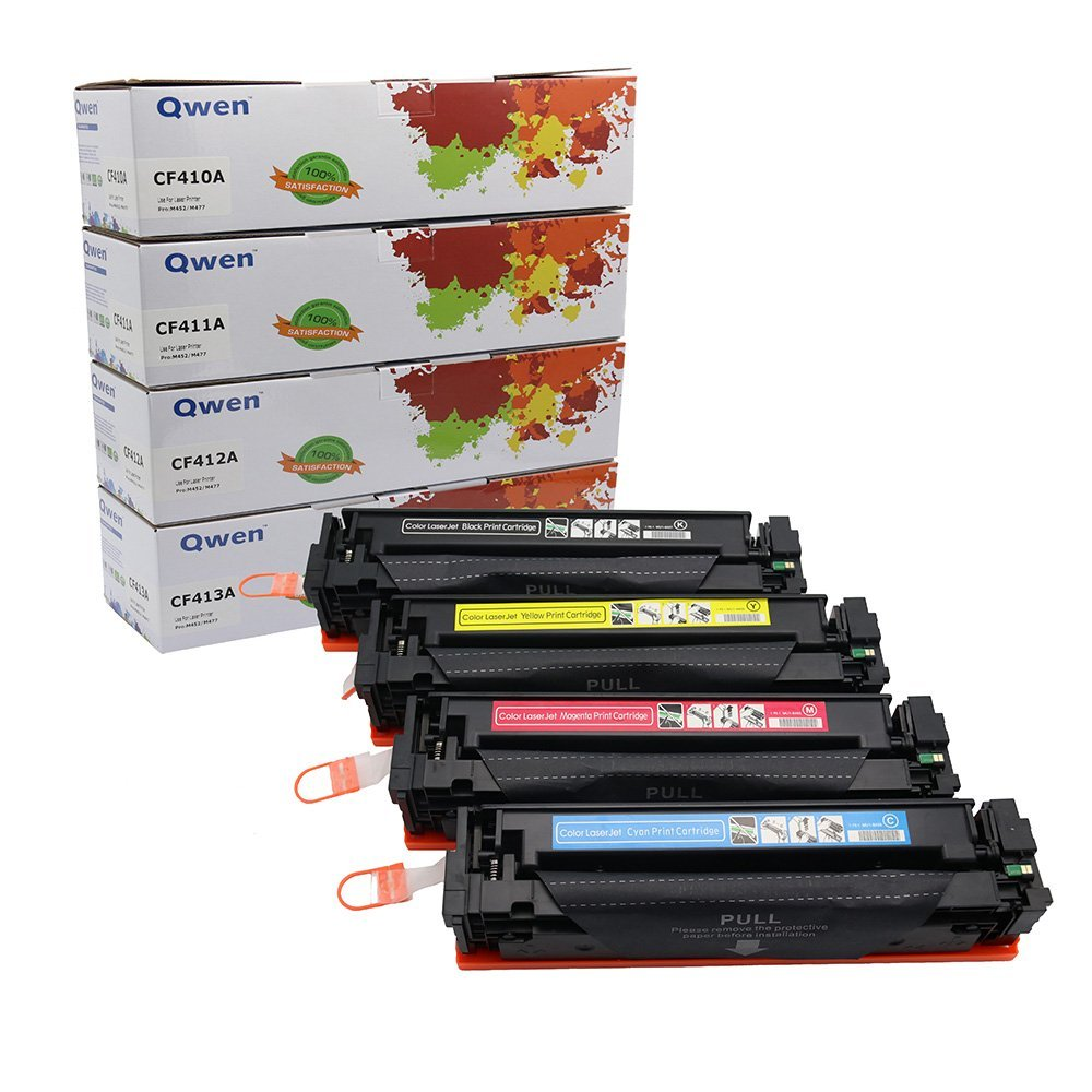 Get Quotations · Qwen Compatible Toner Cartridge Replacement for HP CF410A  CF411A CF412A CF413A 410A for HP Color LaserJet