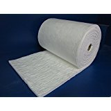 "Ceramic Fiber Blanket - Insulation 24"" X 12"" X 1"" for Wood Stoves, Pizza Ovens, Kilns, Forges & More - 6# Pound 2300 Degrees"
