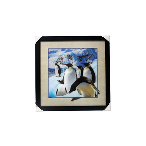 Antarctic 5D lenticular picture with plastic frame for home decoration custom penguin images