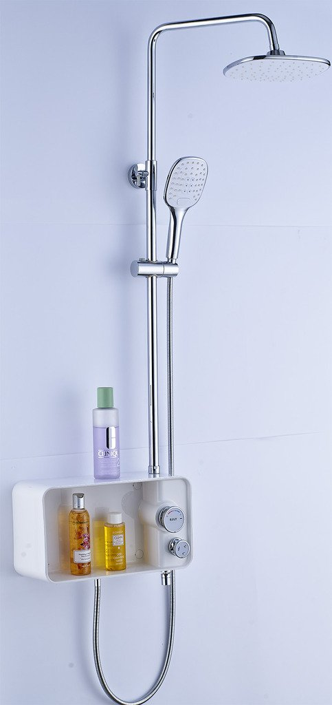 Get Quotations 700br Rainfall Shower Set With Hand Cirque Shelf Br Arm