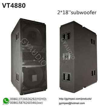 2*18'' Cabinet,Dual 18'' Subwoofer Bass Box Vt4880 - Buy Jbl ...