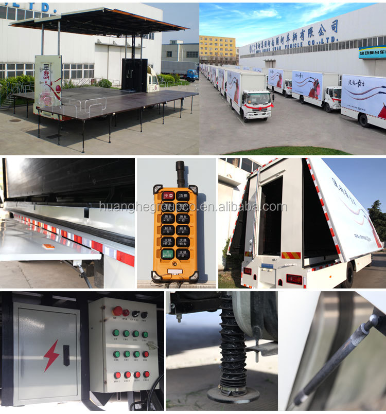 P10 Truck Mobile Advertising Led Display,Used Led Mobile Advertising Stage 24V Trucks For Sale