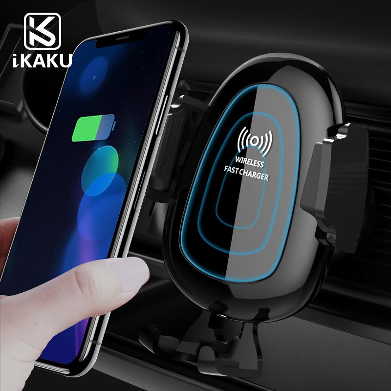 KAKU New trending in korea oem mini wireless car charged phone charger 10w mount qi wirless фото