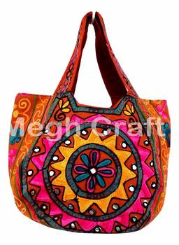 f9e7940fb4cc Indian Handmade HandBags- Bohemian ethnic banjara bag -Vintage Mirror Work  Hippie Tote Handbag