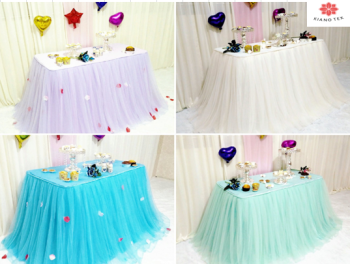 TUTU TULLE JUPE de TABLE