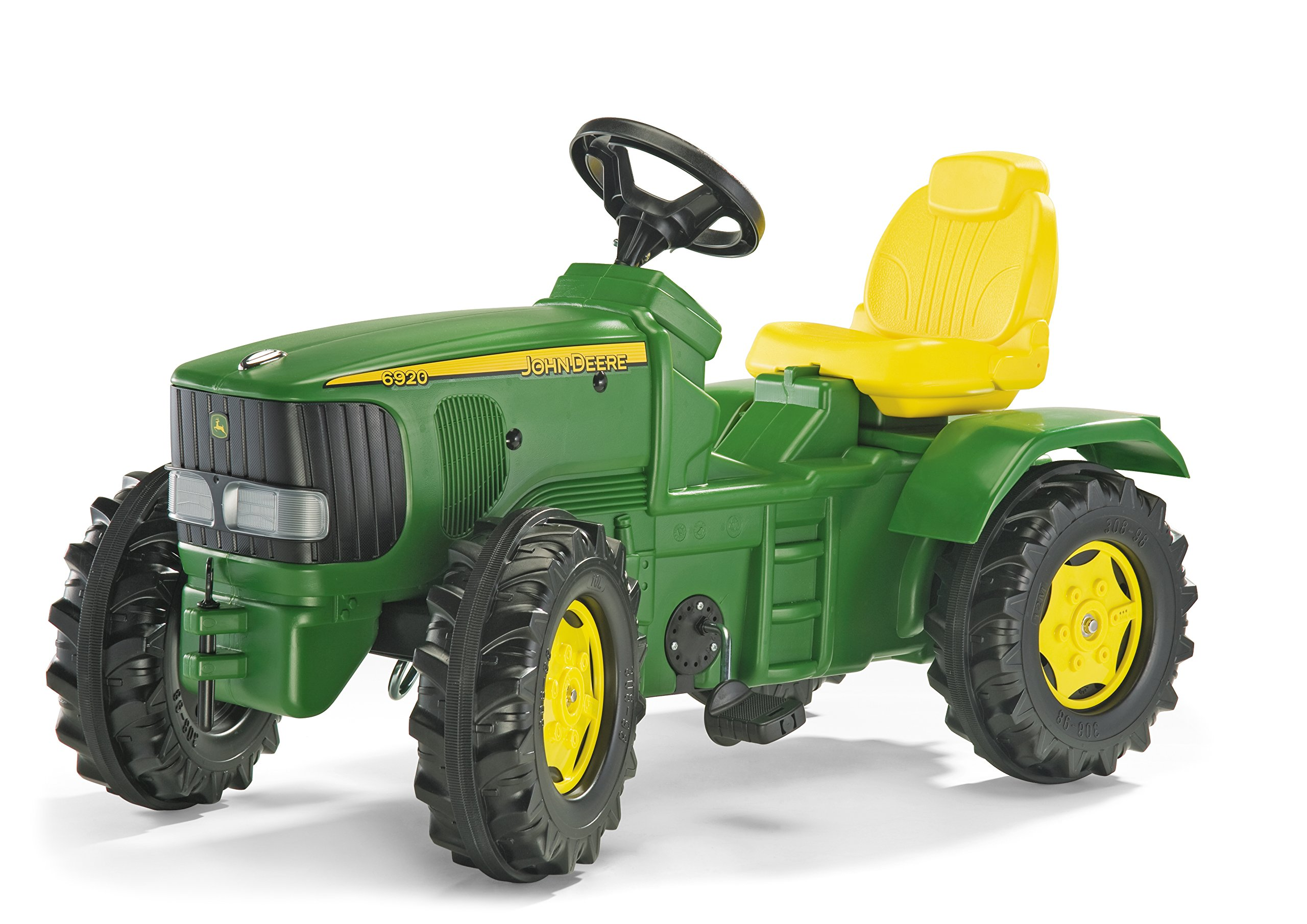 rolly toys John Deere Farmtrac Pedal Tractor with Front and Rear Hitches for Additional Accessories, Youth Ages 4+