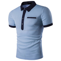 Brand Polo Men Summer Short Sleeve Polo Shirt Casual Slim Fit Solid Cotton Breathable Pocket Polo Shirt