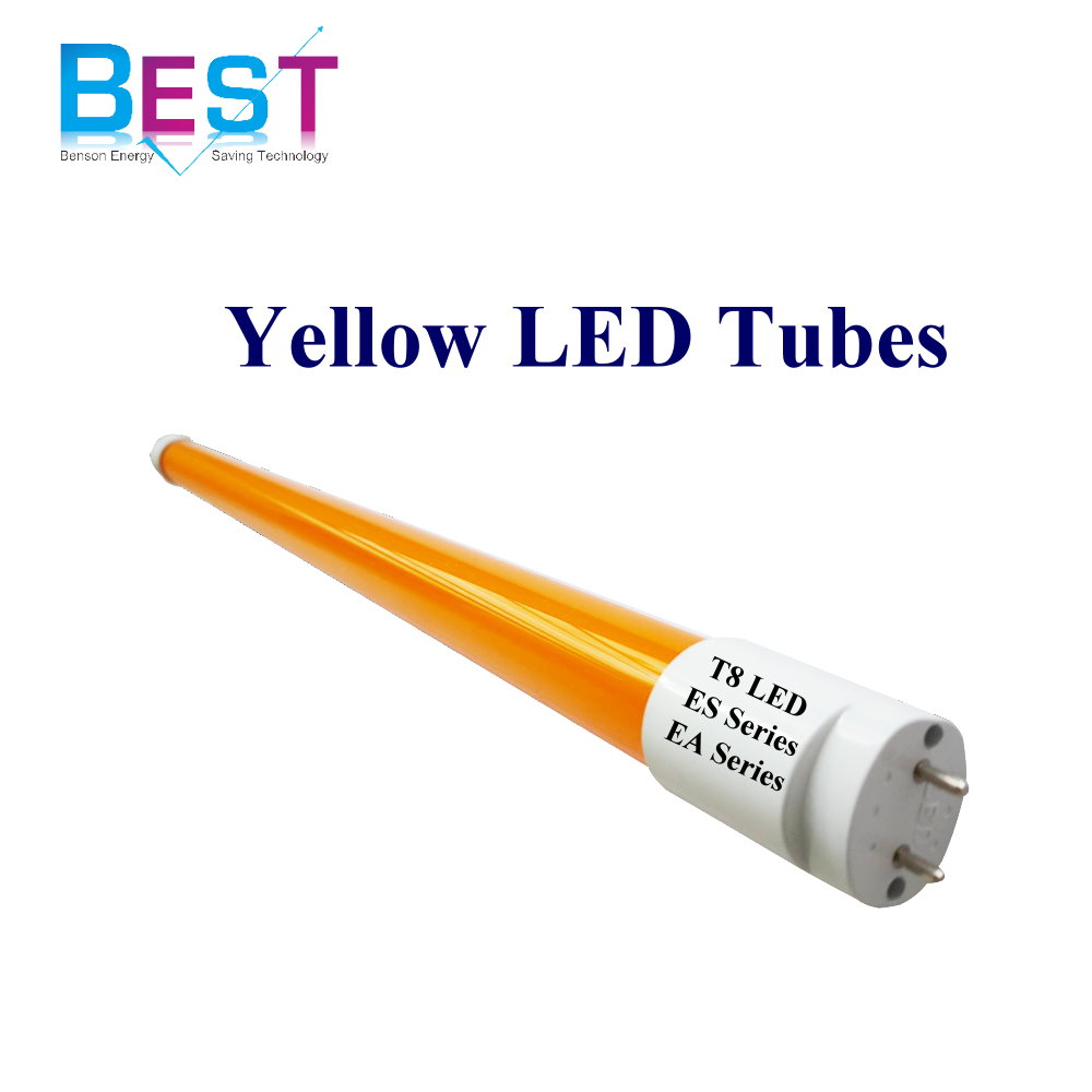 T8 led amarillo tubo luz T8 No uv led tubo de luz