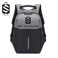 SKY TRAVELLER SKY319 Durable Anti-Theft Travel Outdoor Leisure Bag Rucksack Laptop Backpack With USB Charging Port - Grey