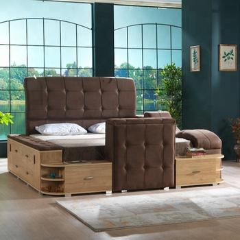 Entspannende Bett König Größe Komfort Schlafsofa Luxus Bett Tv Einheit Masaj Einheit Buy Kingsize Bett Wand Einheit Masaj Bett Luxus Möbel Product