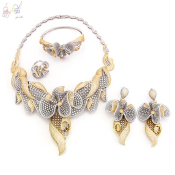 Unique Wedding Sets Cz Necklace Trio Wedding Rings